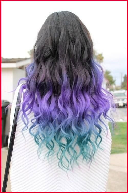 Hair Colored Tips Gallery Of Color